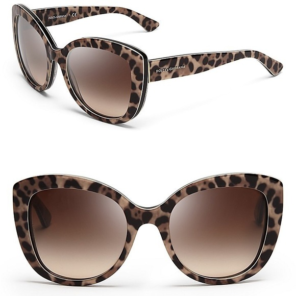 c908a01bf Dolce & Gabbana Accessories - Dolce & Gabbana leopard print cat eye  sunglasses